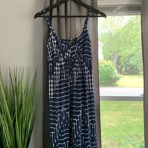 Tommy Bahama Blue and White Maxi Dress Size XS